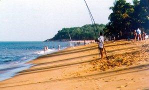 Evolution de la ligne de rivage sur l'est de la plage de Montjoly. Les photos ci-dessus montre l'évolution de la plage des Salines de Montjoly entre 1997 et 2006. En 1997, la plage possède une surface de sable assez réduite. Deux ans plus tard, le profil de la plage a évolué, et s'est fortement élargi. En 2006, l'érosion a repris jusqu'à détruire une partie des propriétes situées sur le front de mer. En une dizaine d'années, ce rivage a été successivement en expansion et en recul.